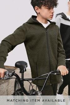 adidas Cotton Sportive 3 Stripe Hoody in Black for Men Lyst