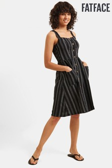FatFace Black Aubrey Stripe Dress