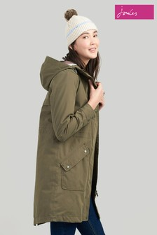 Joules Green Rainelong Waterproof Jacket