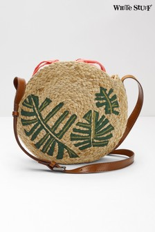 White Stuff Natural Amal Mini Palm Jute Cross Body Bag