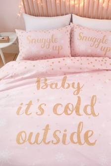 Catherine Lansfield Baby It's Cold Outside Christmas Duvet Cover and Pillowcase Set