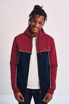 Colourblock Zip Through Hoody
