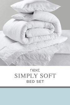 Simply Soft Duvet, Pillow And Mattress Protector Set