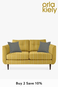 Orla Kiely Linden Small Sofa with Walnut Feet