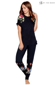 B by Ted Baker Navy Kensington Floral Jersey Jogger