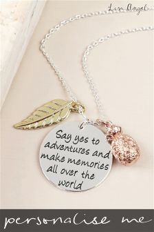 Personalised Say Yes To Adventure Necklace By Lisa Angel