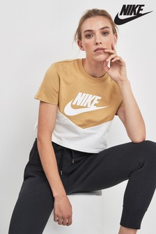 Nike Heritage Colourblock Cropped Tee