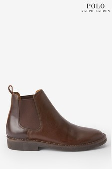 Polo Ralph Lauren Brown Leather Talan Chelsea Boots