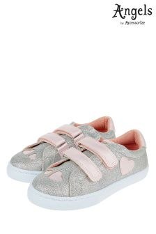 Angels By Accessorize Silver Heart Sparkle Pump