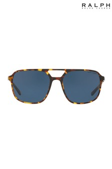 Ralph Lauren Blue Antique Havana Sunglasses