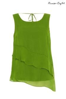 Phase Eight Lime Kit Silk Blouse
