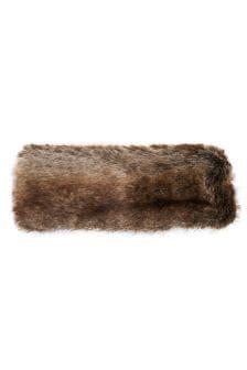 Joules Reindeer Faux Fur Headband