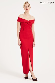 Phase Eight Red Marcelina Twist Maxi Dress