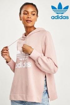 adidas Originals Pink Detailed Overhead Hoody