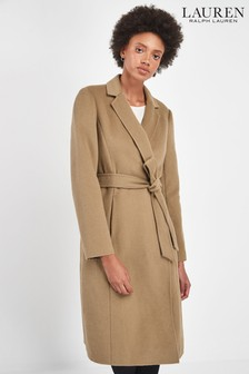 Lauren Ralph Lauren® Camel Wrap Wool Blend Coat