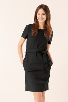 d838251f024 Black · Navy · Tie Waist Shift Dress