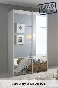 Cameron Grey 1.36m Sliding Wardrobe by Rauch