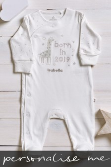 Personalised Born In 2019 Sleepsuit