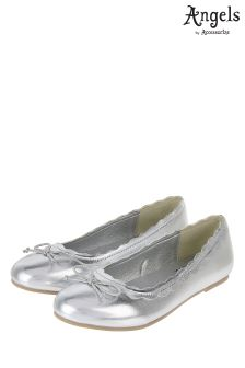 Angels By Accessorize Silver Scalloped Edge Ballerina