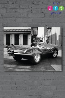 Steve McQueen Jaguar by Time Life Canvas