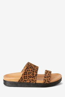 Chunky Two Band Footbed Sandals