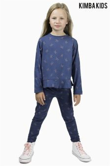 Kimba Kids by Kimberley Walsh Navy K Print Legging
