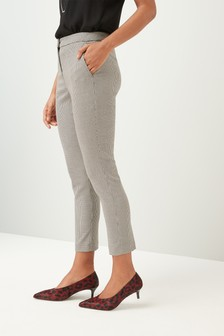 Houndstooth Slim Suit Trousers