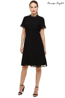 Phase Eight Black Ivanna Guipure Lace Dress
