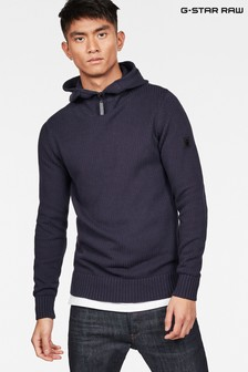 G-Star Omohundro Hooded Half Zip Sweater