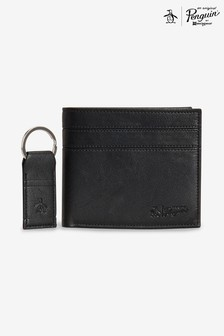 Original Penguin® Black Wallet And Keyring Gift Set