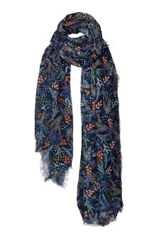 FatFace Navy Dragonfly Floral Scarf
