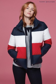 Tommy Hilfiger Blue Tyra Boxy Down Jacket