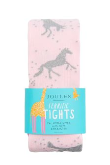 Joules Dusk Pink Party Tights