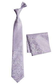 Silk Floral Tie And Pocket Square