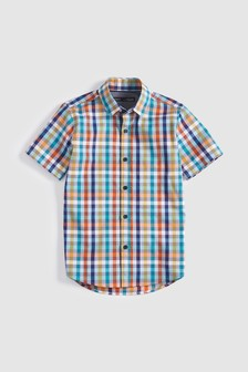 Short Sleeve Bright Gingham Shirt (3-16yrs)