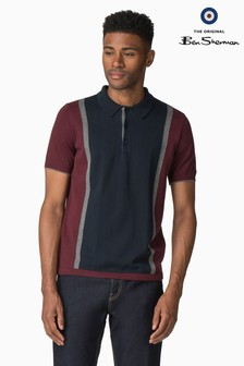 Ben Sherman Red The Mod Polo Knit