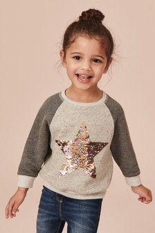 Sequin Star Sweatshirt (9mths-7yrs)