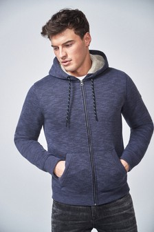 Borg Lined Zip Through Hoody