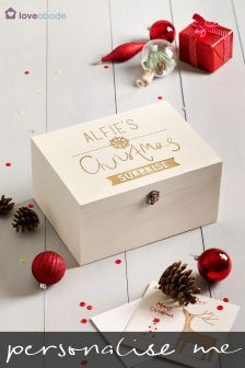 Personalised Wooden Christmas Eve Box by Loveabode