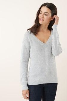 Suéter anudado en la parte trasera de Luxe