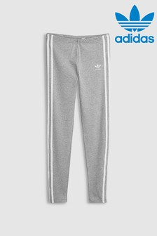 adidas Originals Grey 3 Stripe Leggings