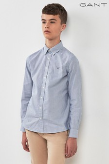 GANT Teen Blue Archive Oxford Stripe Shirt