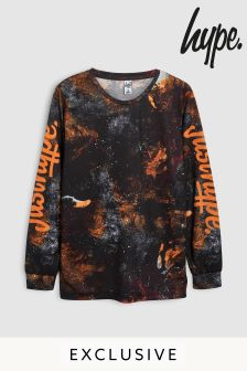 Hype. Orange/Grey Lava Long Sleeve Tee