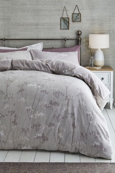 Brushed Cow Parsley Duvet Cover and Pillowcase Set