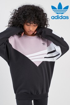 adidas Originals Black/Lilac Soft Vision Crew