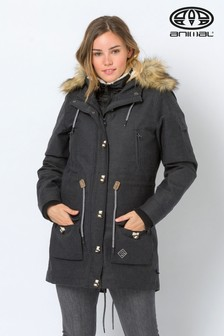 Animal Black Viva Winter Borg-Lined 10K Waterproof Parka