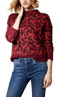 Karen Millen Animal Brushed Leopard Jumper