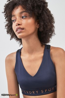 Superdry Navy Sports Bra