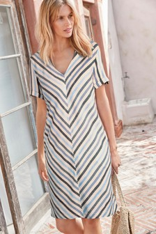 2700ccd987 Linen Blend T-Shirt Dress