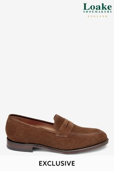 Loake Suede Saddle Loafer